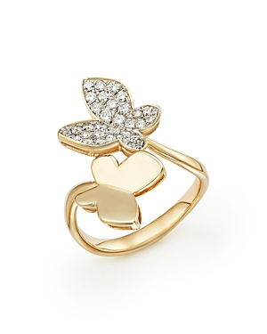 Diamond Butterfly Ring in 14K Yellow Gold, .50 ct. t.w. - 100% Exclusive