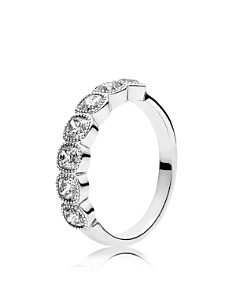 PANDORA Ring - Sterling Silver & Cubic Zirconia Alluring Cushion - Bloomingdale's_0
