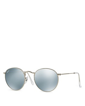 Ray-Ban - Unisex Icons Mirrored Round Sunglasses, 53mm
