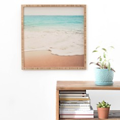 "Deny Designs - Ombré Beach Framed Print, 20"" x 20"""