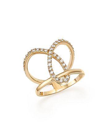 Bloomingdale's - Diamond Open Loop Ring in 14K Yellow Gold, .55 ct. t.w.- 100% Exclusive