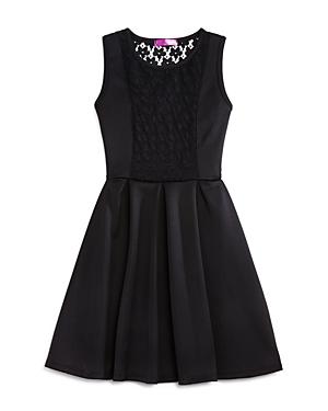 Aqua Girls Lace Inset Knit Dress Sizes Sxl  100 Exclusive
