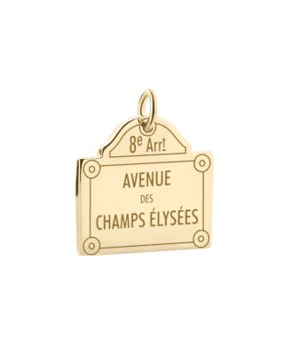 JET SET CANDY Champs-Elysees Sign Charm in Gold