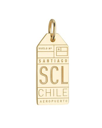 Jet Set Candy - SCL Santiago Chile Luggage Tag Charm