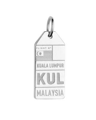 JET SET CANDY Kul Kuala Lampur Malaysia Luggage Tag Charm in Silver