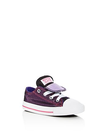 2be6aeb53a57 Converse - Girls  Chuck Taylor All Star Shimmer Double Tongue Lace Up  Sneakers - Toddler