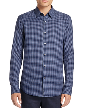 Theory Sylvain Gingham Slim Fit Button-Down Shirt