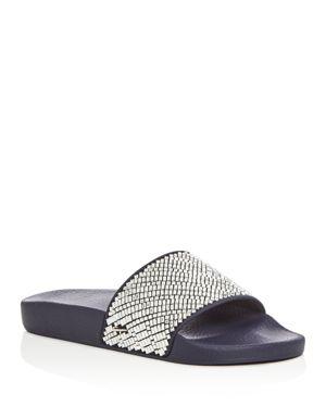 Salvatore Ferragamo Embellished Pool Slide Sandals
