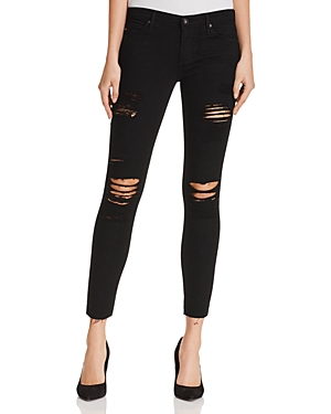 Ag The Legging Ankle Distressed Jeans in Darkest Night