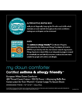 Bloomingdale's - My Warm Asthma & Allergy Friendly Down Comforter - 100% Exclusive