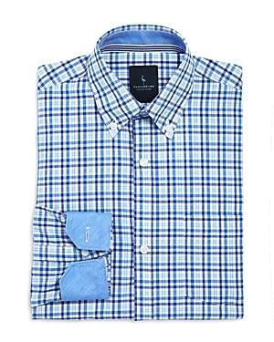 TailorByrd Boys Textured Woven Check Shirt  Big Kid