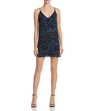 Aqua Floral Print Slip Dress - 100% Exclusive