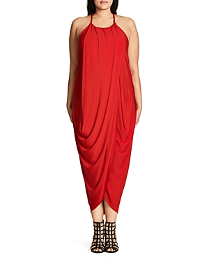 City Chic Slinky Wrap Maxi Dress
