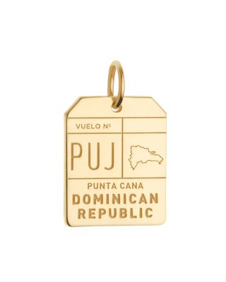 JET SET CANDY Puj Punta Cana Dr Luggage Tag Charm in Gold