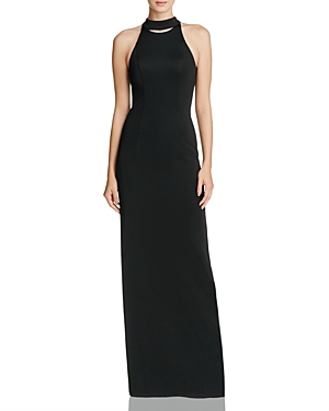 Bariano Mock Neck Gown