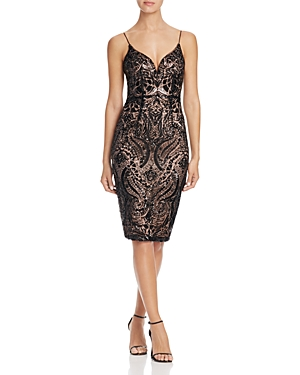 Bariano Sequin Lace Dress