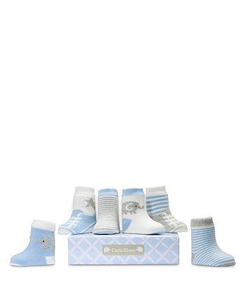 Elegant Baby - Boys' Cutie Socks, 6 Pack - Baby