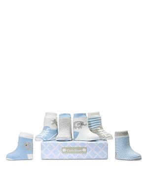 Elegant Baby Boys' Cutie Socks, 6 Pack - Baby