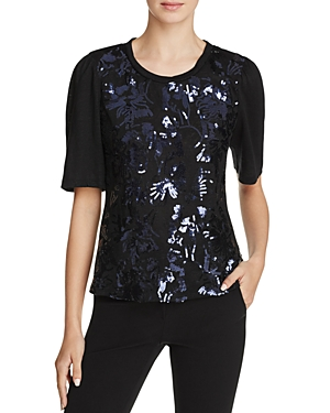 Rebecca Taylor Sequin Knit Top
