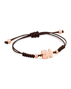 TOUS - Bear Charm Knotted Cord Bracelet