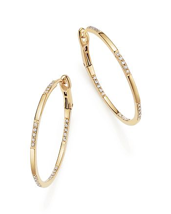KC Designs - 14K Yellow Gold Diamond Micro Pavé Hoop Earrings