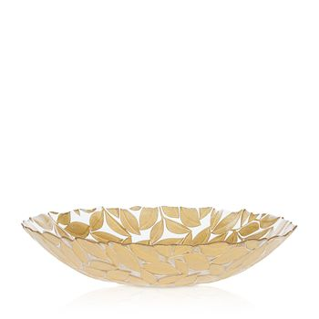 VIETRI - Nature Glass Leaf Medium Bowl
