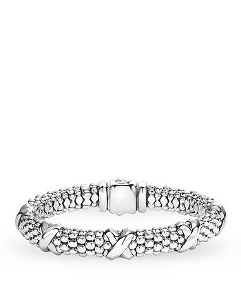 LAGOS - Signature Sterling Silver X Station Caviar Bracelet