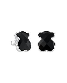 TOUS - Onyx Bear Stud Earrings