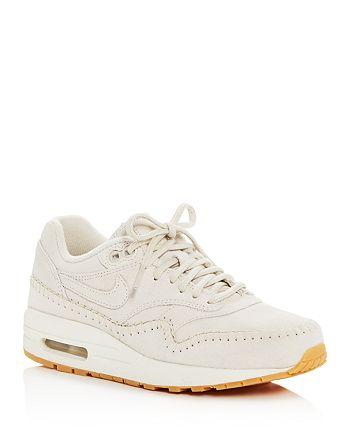 detailed look 63ea7 54e0c best nike womens air max 1 premium lace up sneakers 8bdd3 2c642