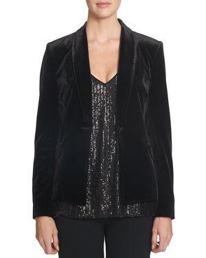 1.state Velvet Tuxedo Jacket