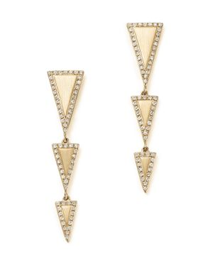 Kc Designs 14K Yellow Gold Diamond Geometric Drop Earrings