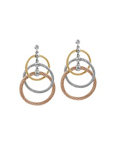 ALOR Tricolor Cable Triple Drop Earrings with Diamonds - Bloomingdale's_0