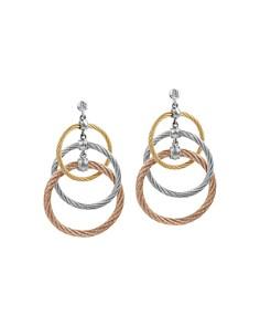 ALOR - Tricolor Cable Triple Drop Earrings