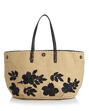 Tory Burch Kerrington Square Straw Tote