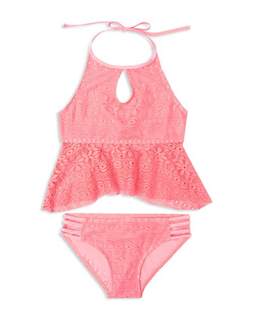 Gossip Girl - Girls' Gypsy Breeze Crochet 2-Piece Swimsuit - Big Kid