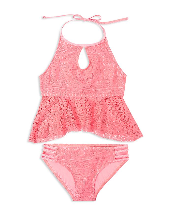 Gossip Girl - Girls' Gypsy Breeze Crochet 2-Piece Swimsuit - Big Kid