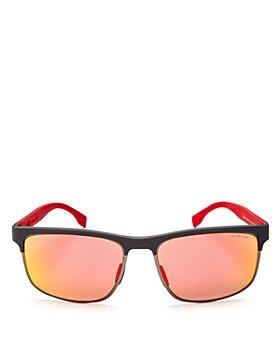 Carrera - Men's Carbon Mirrored Polarized Rectangle Sunglasses, 58mm