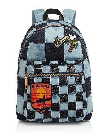 MARC JACOBS - Biker Checker Denim Backpack