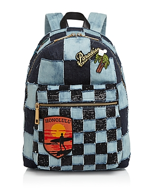 marc jacobs female marc jacobs biker checker denim backpack