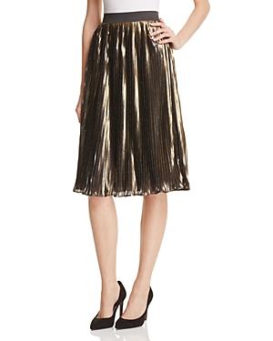 Aqua Metallic Midi Skirt - 100% Exclusive
