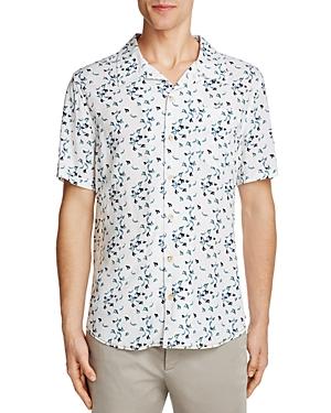 Surfside Supply Shark Print Regular Fit Button-Down Camp Shirt