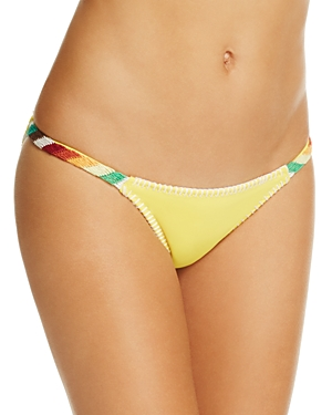 Ale by Alessandra Bonfire Crochet Trim Bikini Bottom