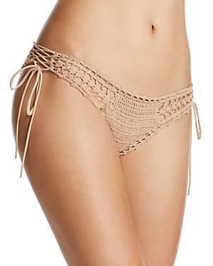 Ale by Alessandra Festival Crochet Side Tie Bikini Bottom
