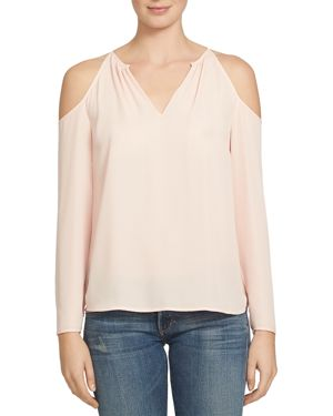 1.state Cold Shoulder Split Neck Blouse