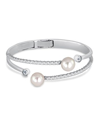 Majorica - Simulated Pearl Textured Bangle
