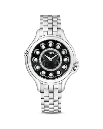 Fendi - Crazy Carats Stainless Steel Rotating Gemstones Watch with Diamonds, 38mm