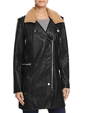 Blanknyc Long Faux Leather Moto Jacket