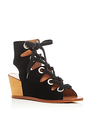 Dolce Vita Lei Caged Lace Up Wedge Sandals