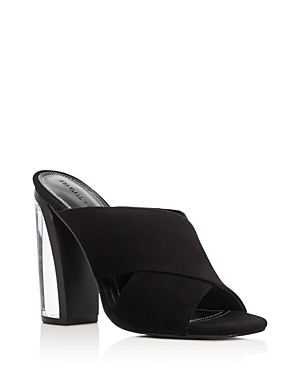 Kendall and Kylie Karmen Lucite High Heel Slide Sandals