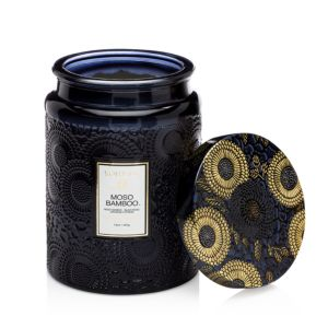 Voluspa Moso Bamboo Large Glass Candle
